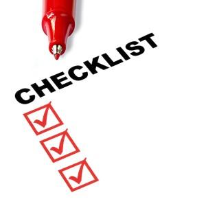 meditation checklist