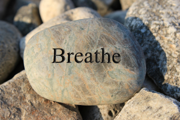 Breathe engraved in rock