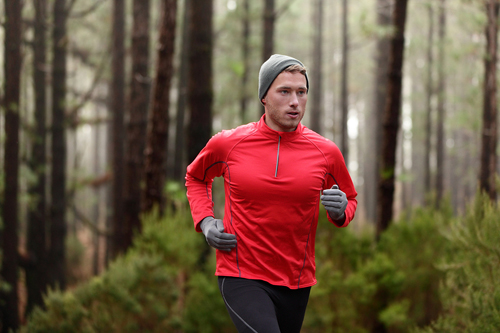 man running to release anger