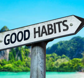 sign says good habits