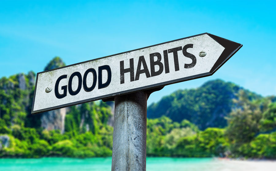 sign says good habits