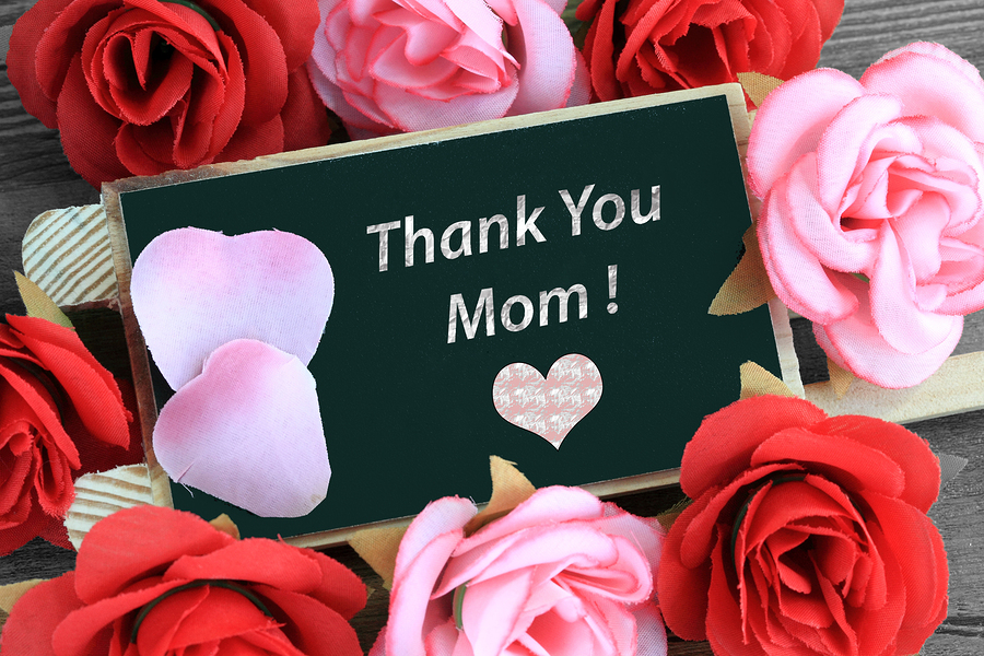 Thank you Mom - mother's day gratitude message