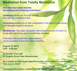 Grounding and Centering class Aug 23 2014