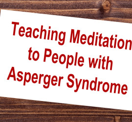Teaching Meditation to People with Asperger Syndrome sign